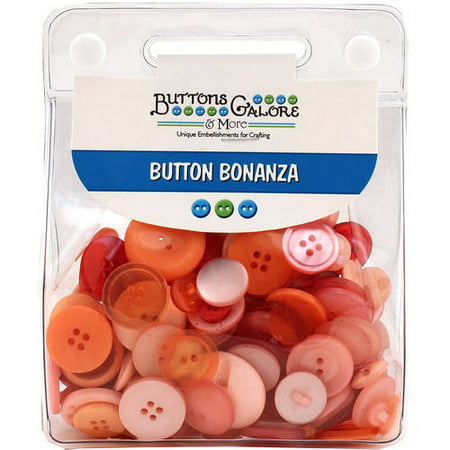 Buttons Galore Button Bonanza 8oz, Vintage Rose