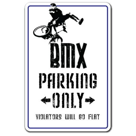 BMX Decal parking race bike trick rider parts racer fun | Indoor/Outdoor | 7