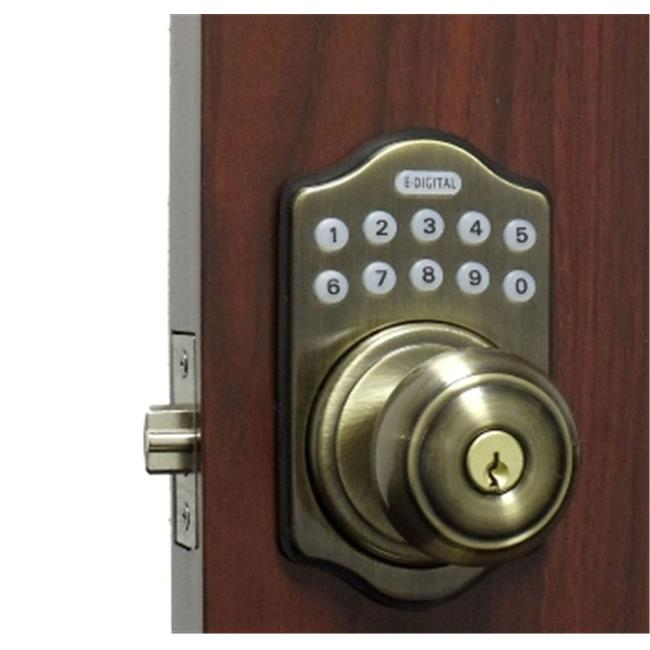 Lockey E-930-AB-R E Digital Electronic Knob Lock Remote Capable - Antique Brass