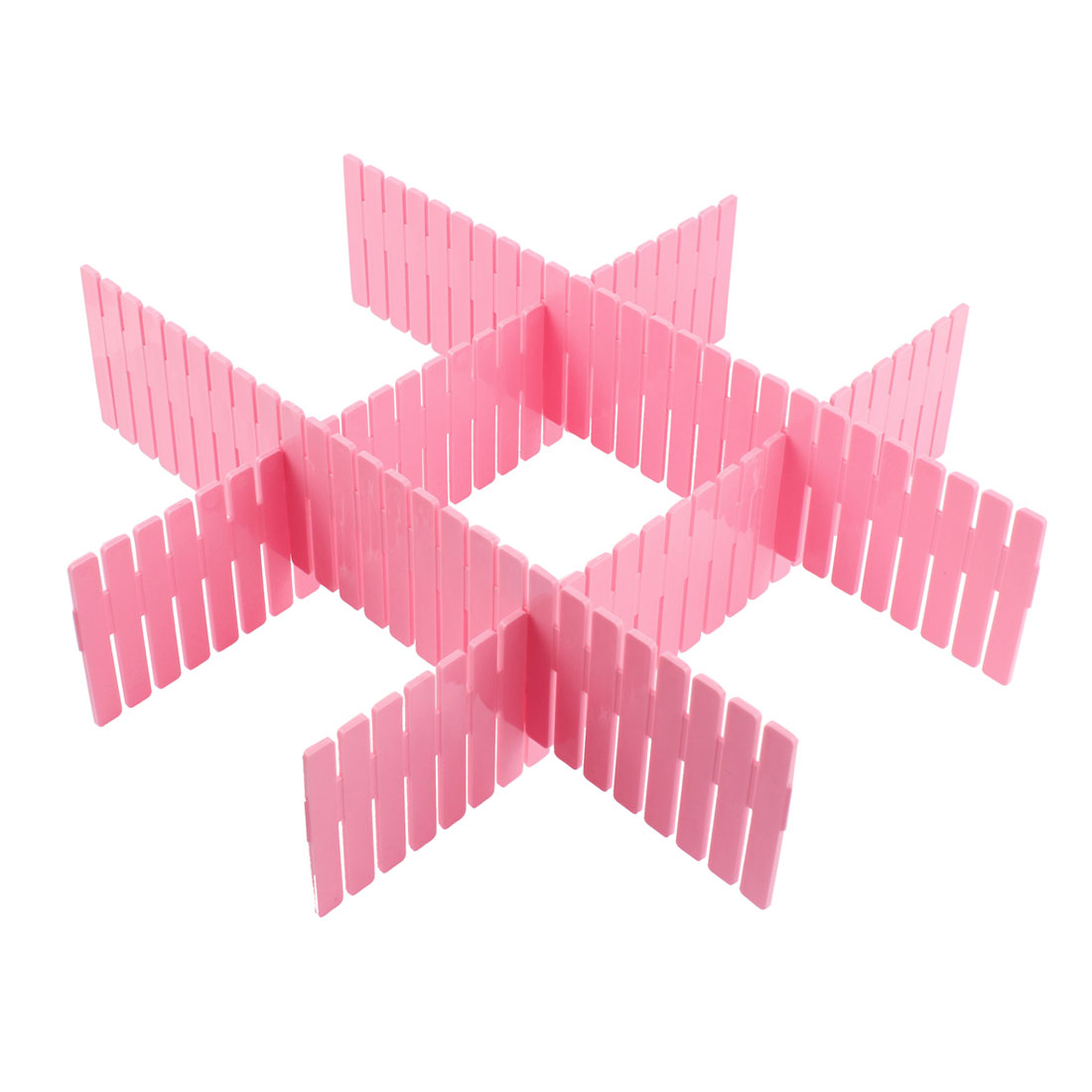 Back to School / College Accessories | Home Storage Drawer Closet Grid Divider Organizer Container 32cmx7cm 4pcs Pink