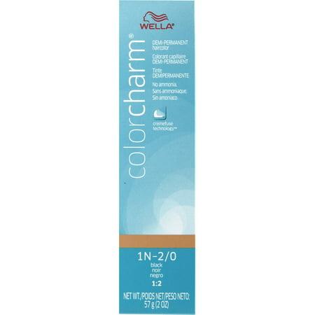 Demi Permanent Creme (WELLA COLOR CHARM Demi Permanent Black Gel Hair HC-D1N (2/0) )