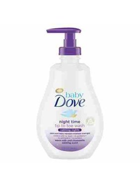 Baby Dove Nighttime Tip to Toe Body Wash Warm Milk & Chamomile - 13oz