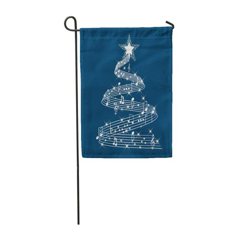 SIDONKU Red Music Musical Christmas Tree Holiday Symphony Xmas Party Lullaby Garden Flag Decorative Flag House Banner 12x18 inch