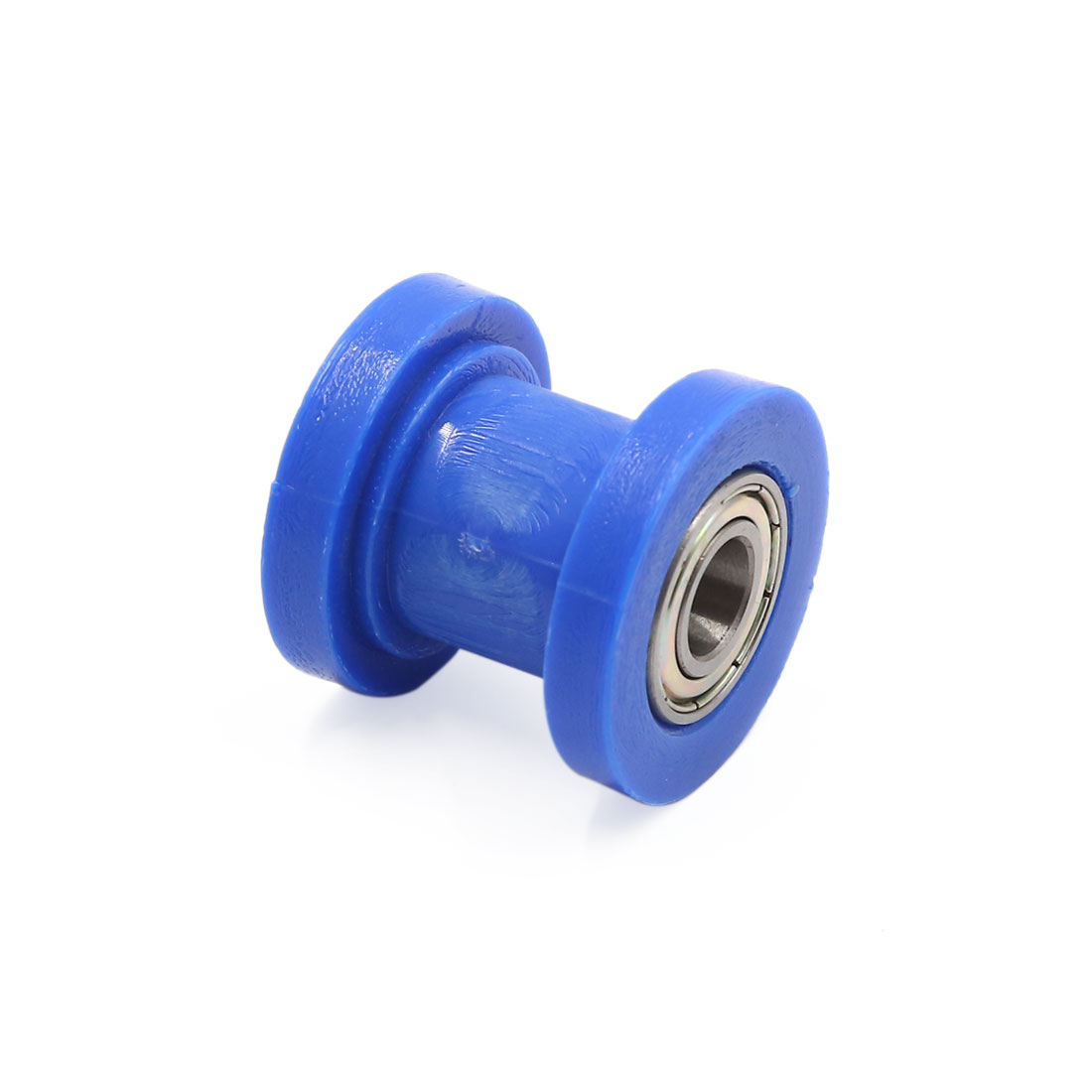 10mm Hole Chain Roller Pulley Slider Tensioner Wheel Guide Blue for Motorcycle - image 1 de 3