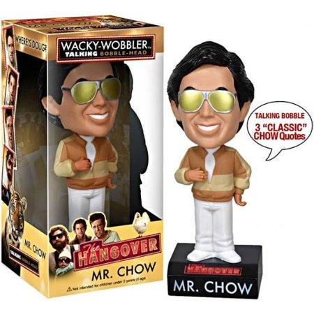 Funko The Hangover Wacky Wobbler Mr. Chow Talking Bobble Head