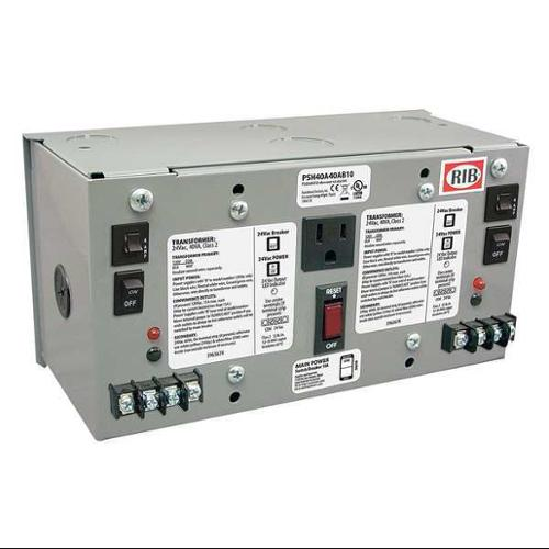FUNCTIONAL DEVICES INC / RIB PSH40A40AB10 Class 2 Transformer,24VAC,40 VA,1 PH