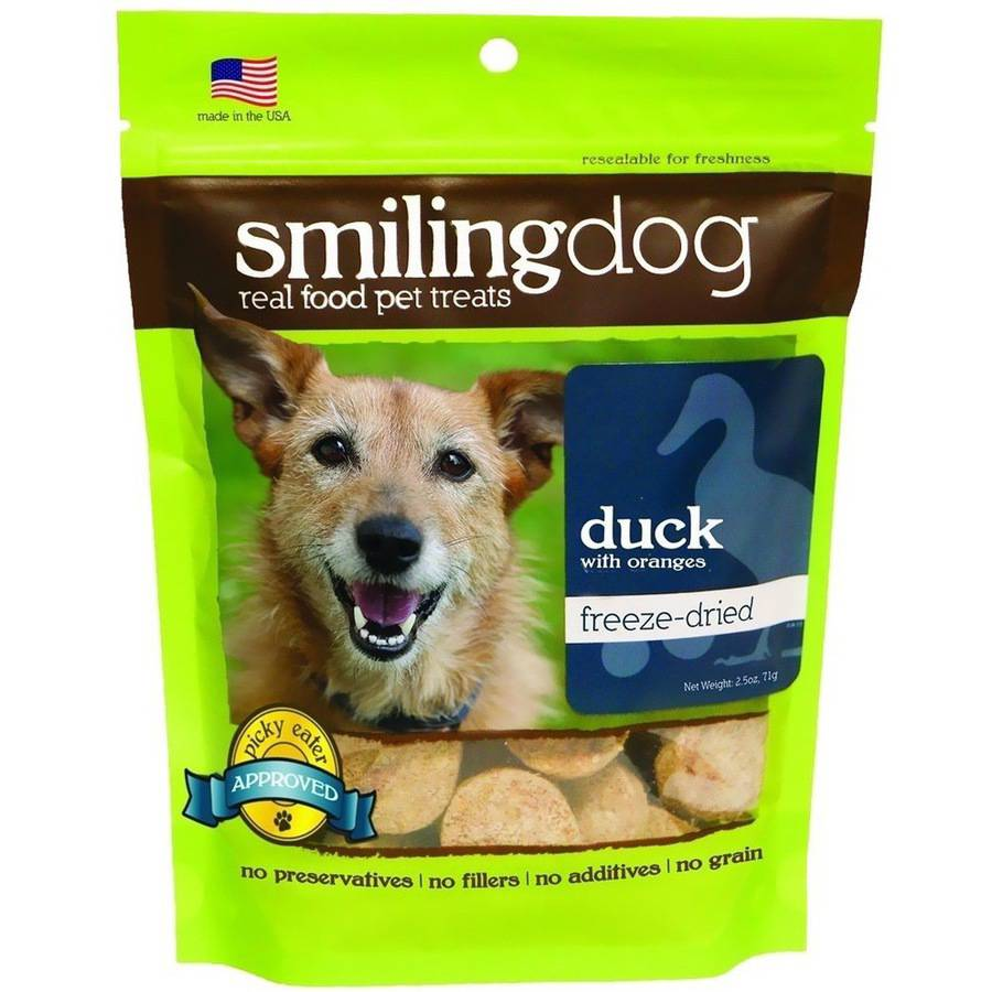 Herbsmith Smiling Dog Freeze-Dried Treats, Duck and Orange