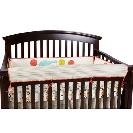 Harriet Bee Clendon Stripe Crib Rail Guard Cover