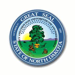 3.8 Inch North Dakota State Seal Vinyl Transfer Decal