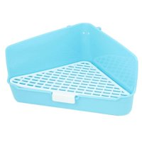 Indoor Plastic Triangle Shape Mesh Style Pet Dog Pee Toilet Blue White