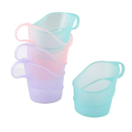 Unique Bargains Colorful 5cm Bottom Diameter Disposable Cup Mug Holder 6 in 1