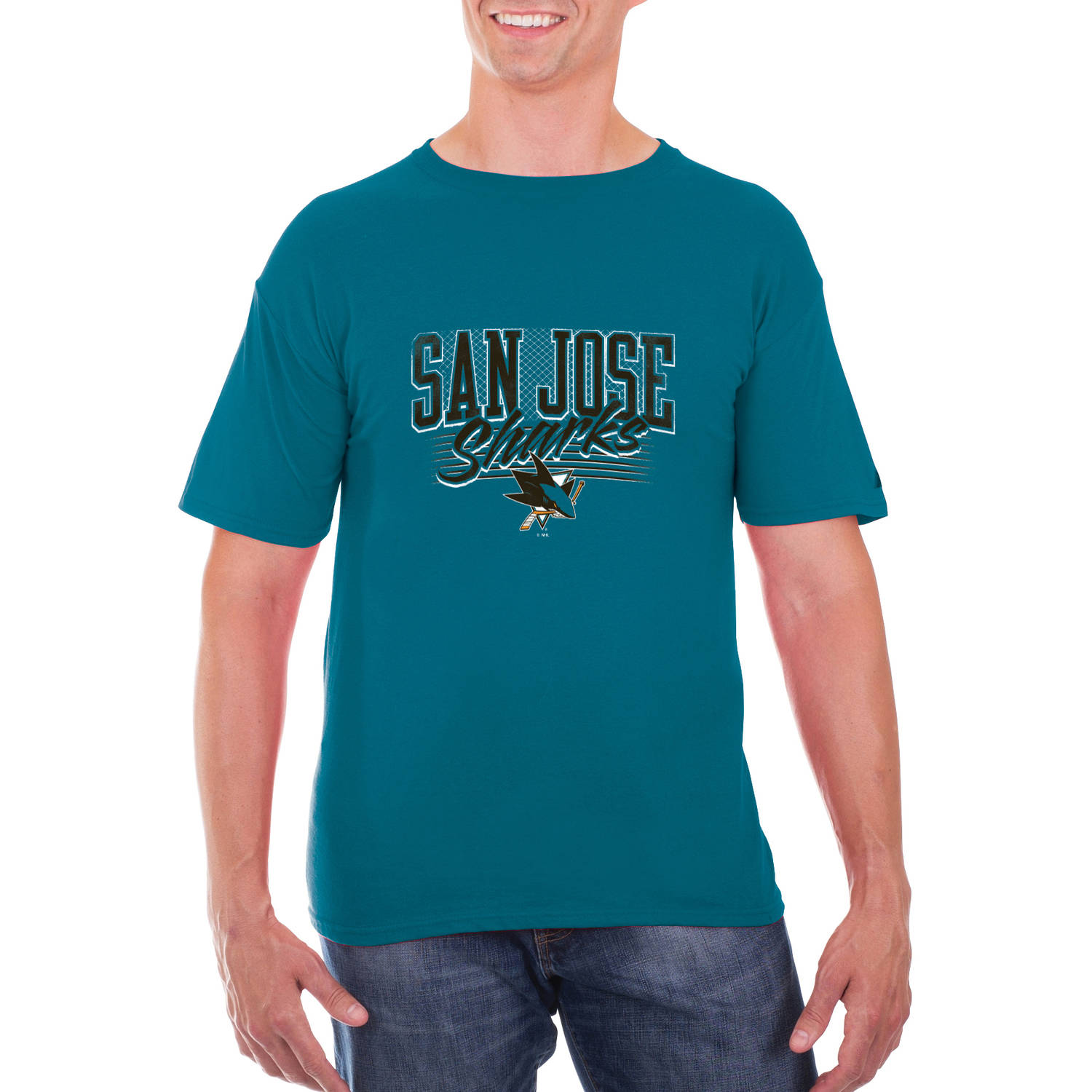 NHL San Jose Sharks Big Men's Classic-Fit Cotton Jersey T-Shirt