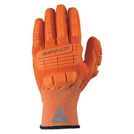 ANSELL 97-120 Cut Resist Gloves,Hi-Vis Orange,PR G9071212