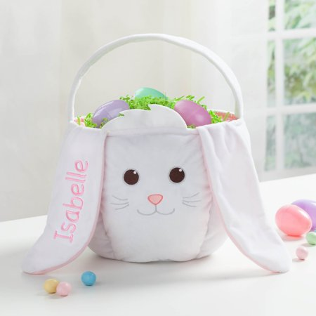 Personalized Easter Basket – White Bunny