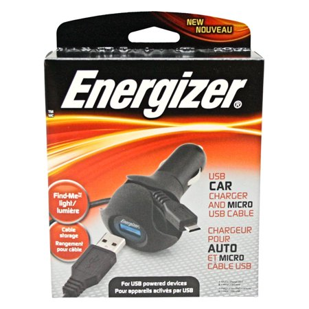 Energizer 11391 - USB Car Charger  and  Micro USB Cable - Energizer Usb Sync