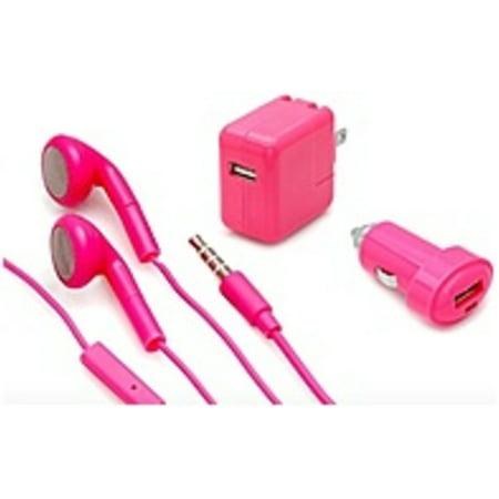 Aduro Ip3 3P Bnd03 Mobile Charging Bundle   3 Piece   Pink    Refurbished