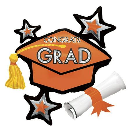 Burst Foil - Anagram Star Burst Graduation Cap w Tassle 36