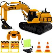 Toysery Radio Control Engineering Truck Toy Kids | Full Functional Remote Control Construction Tractor Bulldozer Toy | Excavator Toy Boys, Girls.