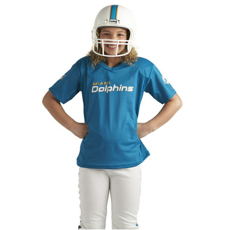 the best attitude 732cf 743d2 Franklin Sports NFL Miami Dolphins Youth Licensed Deluxe Uniform Set, Medium