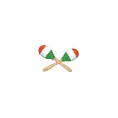 Ddi Red, White & Green Maracas by Generic