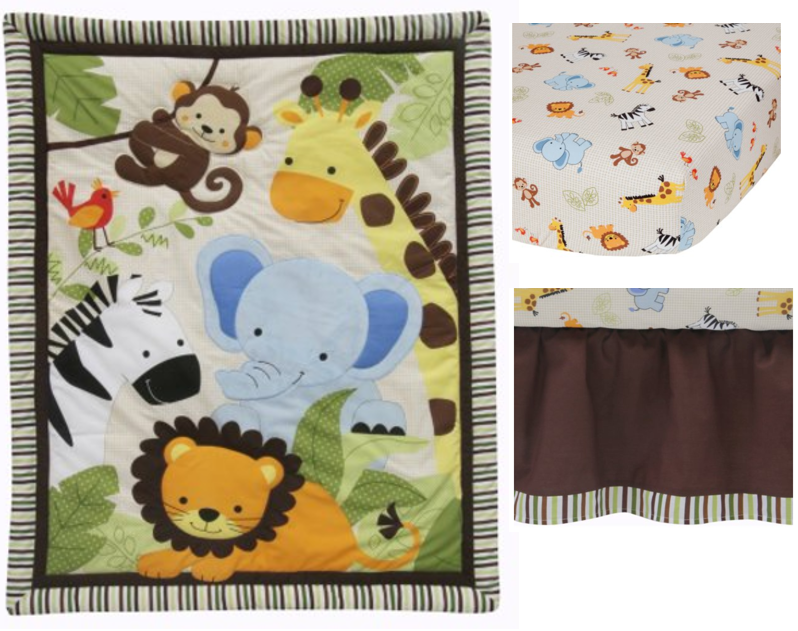 lambs u0026 ivy bedtime originals jungle buddies 3 piece crib bedding set brown