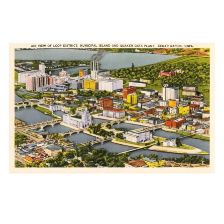 Aerial View, Quaker Oats Plant, Cedar Rapids, Iowa Print Wall Art](Party Store Cedar Rapids)
