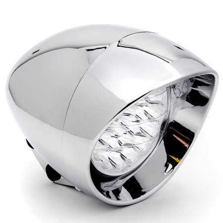 "7"" Chrome LED Headlight Cruiser Daytime Running and Low Beam for Suzuki Savage LS 650 - image 2 de 6"