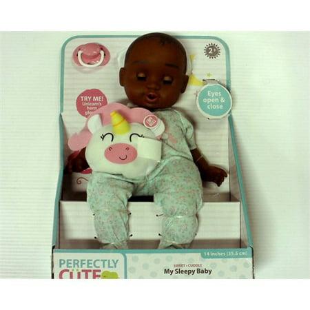 perfectly cute My Sleepy Baby - 14 Baby Girl Doll - Dark Brown Hair](Cute Brown Babies)