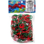Rainbow Loom Green & Red Tie Die Christmas Rubber Bands Refill Pack [300 ct]