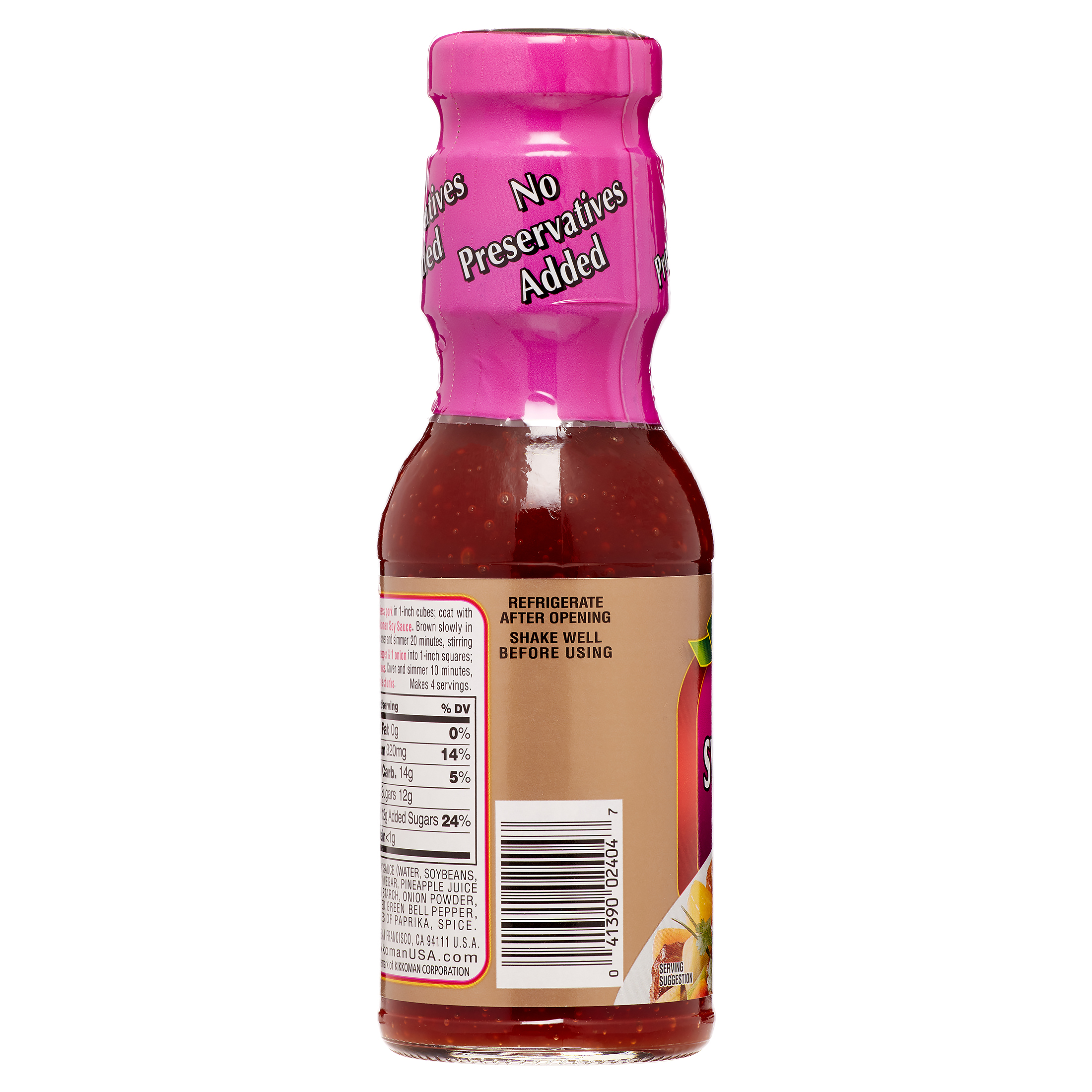 Kikkoman No Preservatives Added Sweet Sour Sauce 12 Oz Walmart Com Walmart Com