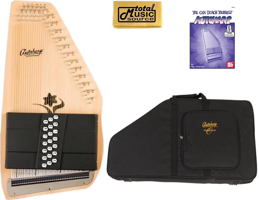 Oscar Schmidt 21 Chord Autoharp, Appalachian, Ideal Bluegrass, OS45C w Soft Case, OS45C... by Oscar Schmidt