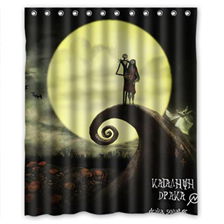 DEYOU The Nightmare Before Christmas Shower Curtain Polyester Fabric Bathroom Size 60x72 Inches