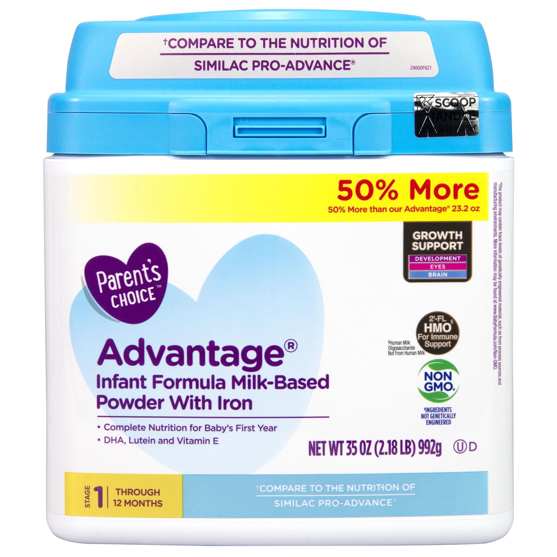 Parent's Choice HMO and Non-GMO Advantage Infant Formula, 35 oz