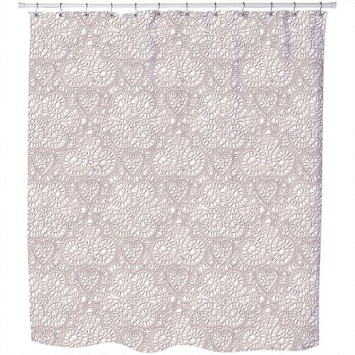 Uneekee Lace Romance Shower Curtain