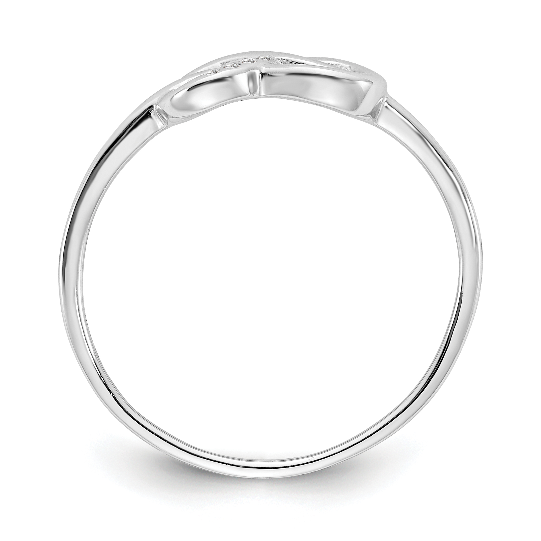 925 Sterling Silver Infinity Diamond Band Ring Size 8.00 Fine Jewelry Gifts For Women For Her - image 3 of 6