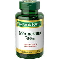 Nature's Bounty Magnesium Softgels, 400mg, 75 Ct