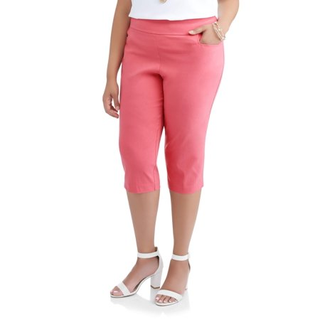 db59f076761 Terra   Sky - Women s Plus Straight Leg Stretch Woven Capri Pant ...