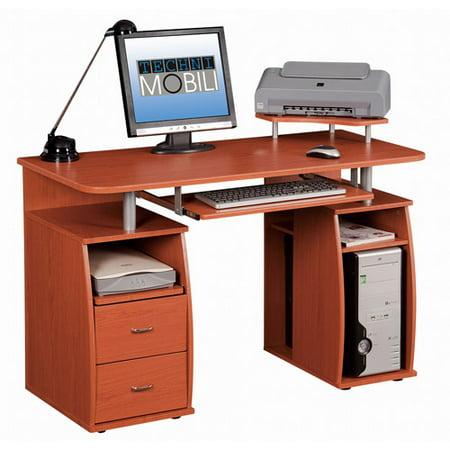 Techni Mobili Complete Computer Workstation, Multiple - Gray Frame Mobile Workstations Computer