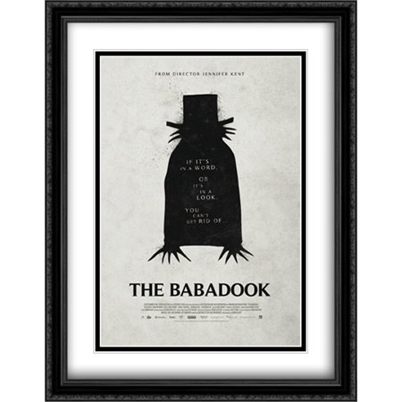 The Babadook 28X36 Double Matted Large Large Black Ornate Framed Movie Poster Art Print