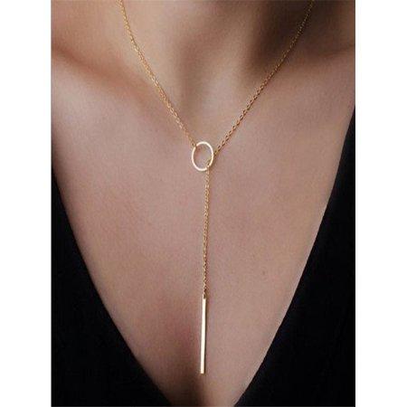 - Women Multilayer Irregular Gold Pendant Chain Statement Necklace Jewelry