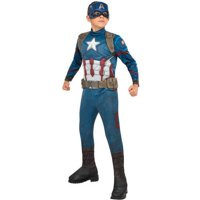 Avengers Captain America Child Deluxe Jumpsuit Halloween Costume (Size : MD)