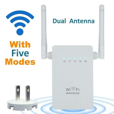 Cat5e/6 Mini Extender - MINI WIFI Router, 300Mbps Wifi Range Extender Repeater Amplifier Wireless-N W-lan Signal Extender Booster 802.11n / b / g Network wireless Repeater / Router / AP wifi booster with WPS