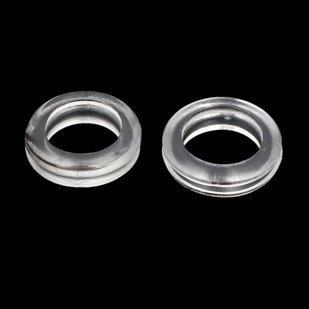 Rubber Ring Sealing Grommet Electrical Wiring Gasket Clear 16mm Inner Dia 20pcs - image 2 of 3