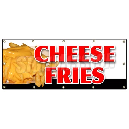 CHEESE FRIES BANNER SIGN french fries bacon cheddar cheese ranch melted monterey