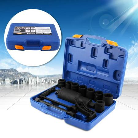 Ejoyous Heavy Duty Multiplier Wheel Lug Nut Wrench Lugnuts Remover Labor Saving With 8 Socket, Multiplier Set,Wheel Nut
