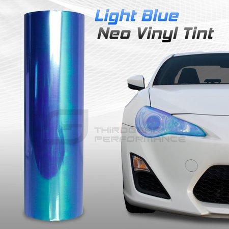 Optix Chameleon Light Blue Neo Chrome Headlight Fog Light Taillight Vinyl Tint Film 12x72in (Chrome Fog Light Lamp)