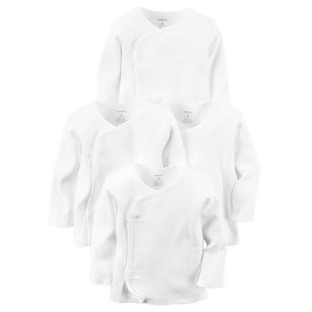 Carter's 4-Pack Kimono Side-Snap Tees- White - Newborn](Kimono Child)