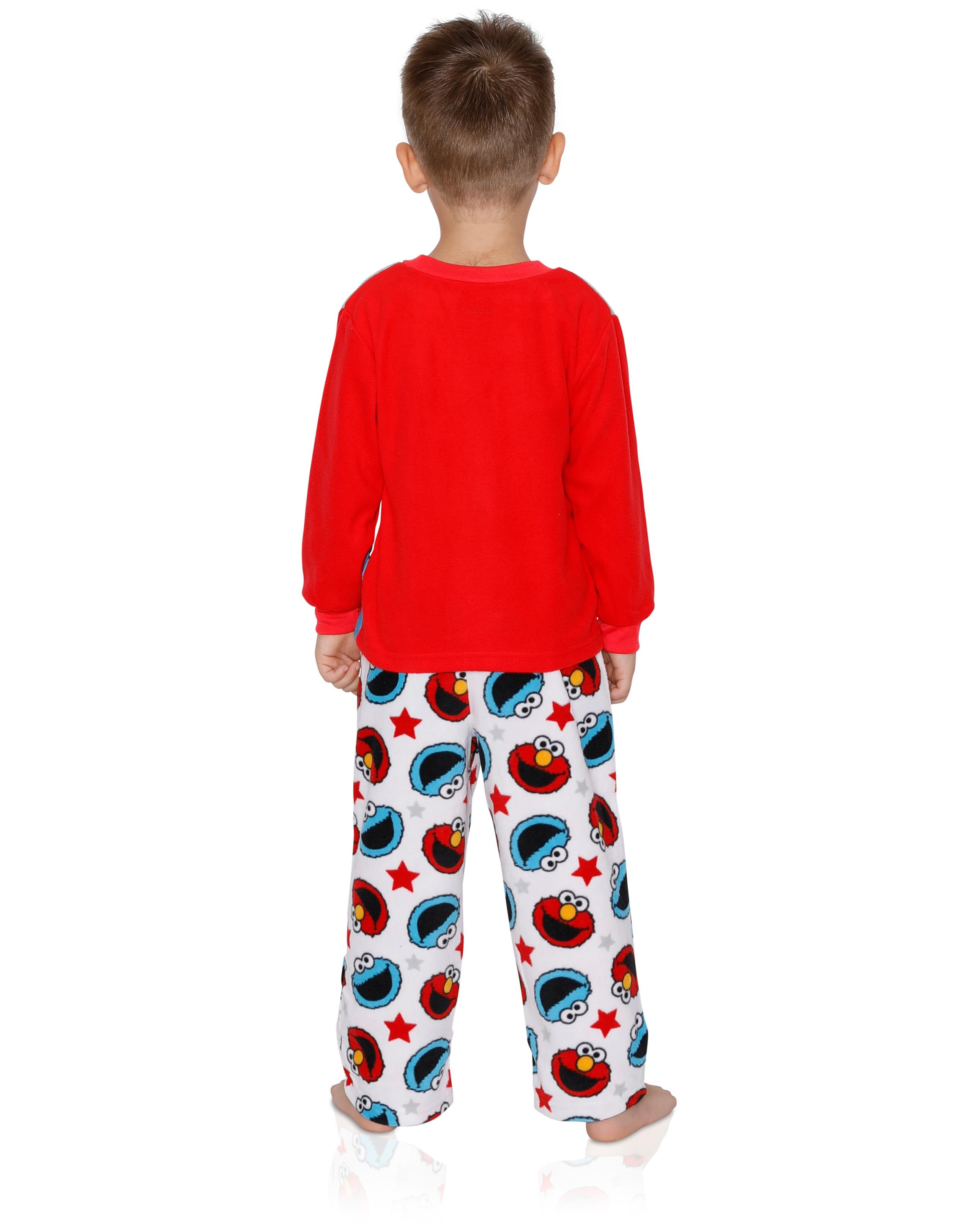 3a5df80b2 Sesame Street Elmo Cookie Monster Baby Toddler Boys 2-Piece Fleece Pajamas  Set, Grey zoomed image