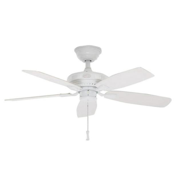 Indoor Outdoor White Ceiling Fan