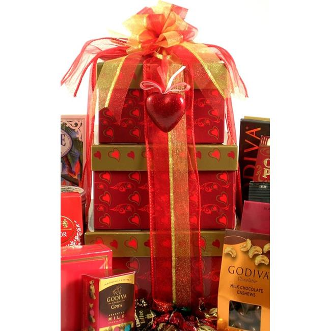 Gift Basket Drop Shipping SwTower Sweethearts Tower, Valentiness Day Gift Tower